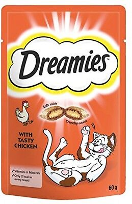 Dreamies Cat Treats With Chicken, 60 G - Pack Of 8