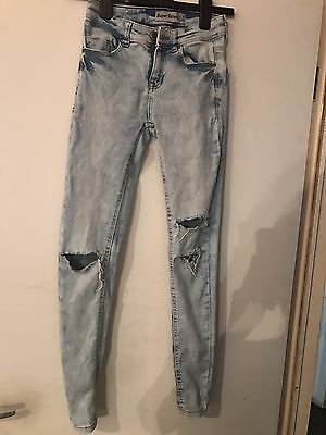 New Look Ripped Skinny Jeans Size 6