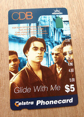 Telstra Phonecard $5- CBD Glide with me - Used with one hole