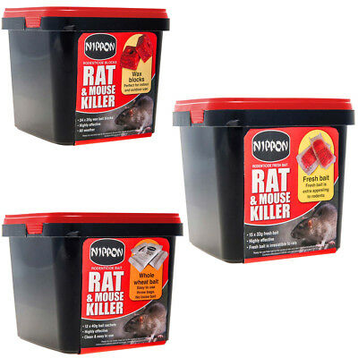 Vitax Nippon Rat & Mouse Killer Rodenticide Whole Wheat Bait