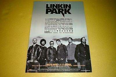 Linkin Park Japan Tour Concert Flyer 2007 Handbill Leaflet
