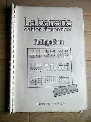 Methode La Batterie - Cahier D'exercices - Philippe Brun