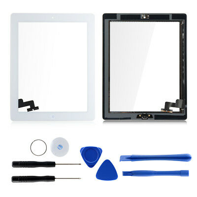 Touch Screen Glass Lens Digitizer Replacement + IC Chip + Home For iPad 2/3/air