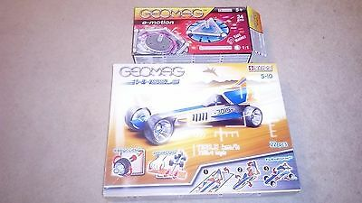 2 Sets Geomag Magnetic World Wheels Dragster Sealed In Box And E-Motion