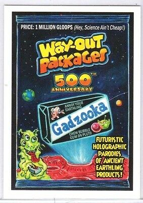 "2017 Wacky Packages ""way-Out Packages 500Th Anniversary"" #84 Network Spews"
