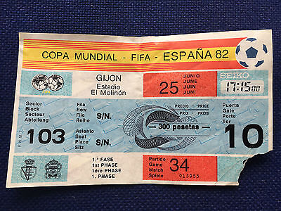 Ticket World Cup Wc Spain 82 1982 Rfa West Germany Austria Game Match 34