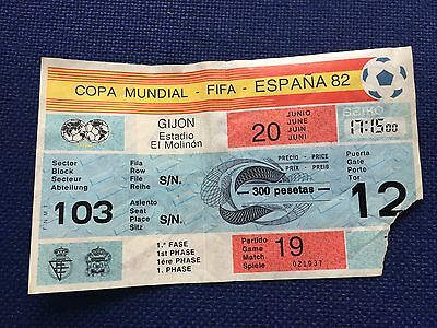 Ticket World Cup Wc Spain 82 1982 Rfa West Germany Chile Game 19 Postmark Match