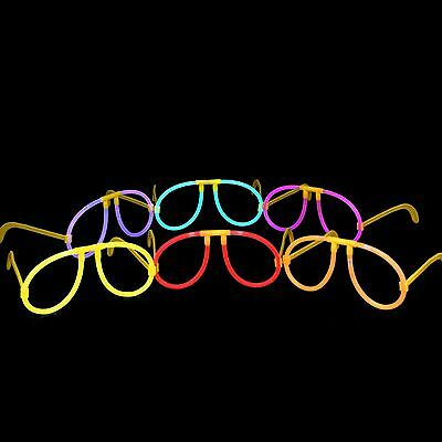 10pcs LED Light Up Wire Glow Fluorescence Eye-wear Glasses for Christmas Party E