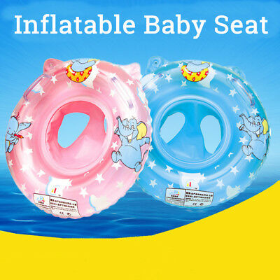 Inflatable Baby infant Handle Seat Float Ring Raft Chair Swim Pool Swimming Toy