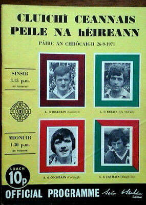 Offaly V Galway 26/9/1971 Gaa All Ireland Football Final
