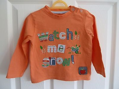 VGUC Boys Orange Long Sleeve Top from TU 9-12 months