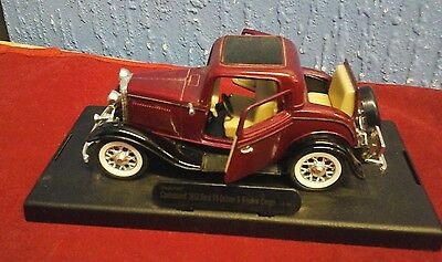 Official Licensed Product Ford Coupe  1:34 Scale Diecast Car