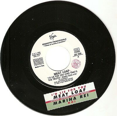 Meat Loaf Marina Rei  Disco Record Promo Jukebox Sticker