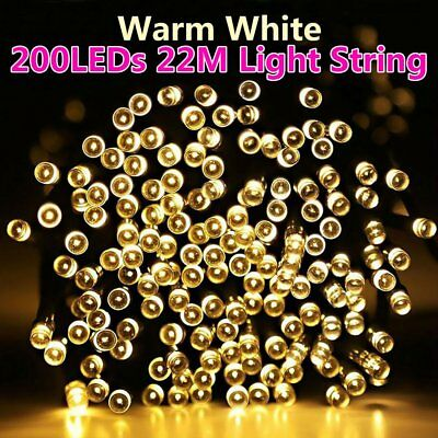 50-200 LEDs Solar Powered Garden Xmas Wedding Party Fairy Outdoor Strings Lights
