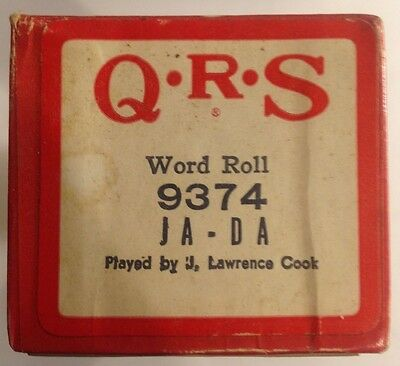 """QRS Word Roll 9374 """"JA-DA"""" Played by J Lawrence Cook VINTAGE 1946"""