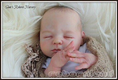 """18-19"""" Unpainted Reborn Doll Kit, With Or Without Doe Suede Body- """"hannah"""" **new"""