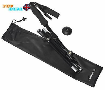 Collapsible Hiking Trekking Pole Folding Walking Stick 3-Section Ultralight