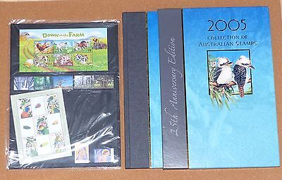 AUSTRALIA YEAR BOOK & SLIP COVER 2005, MNH STAMPS in sealed pack, VALUE $60.90