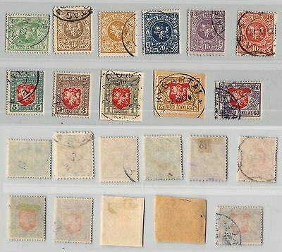 Lithuania, 1919, SC 50-60, used, wmk '145'. c8967