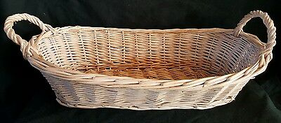 Storage Wicker Basket With Handles 15""