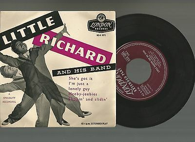 Little Richard And His Band:raro Ep England 1957 London 1071 Ottime Condizioni