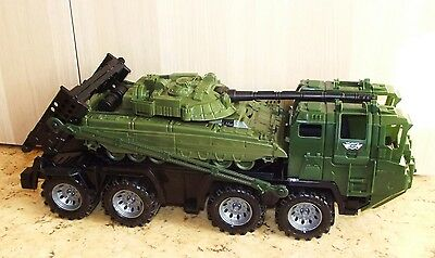 NEW! Russian toy military vehicle. Army truck MAZ-7310 Uragan with a tank.