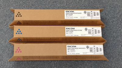 Ricoh Mp C2550 Genuine Toner Black, Cyan, Magenta Includes Vat