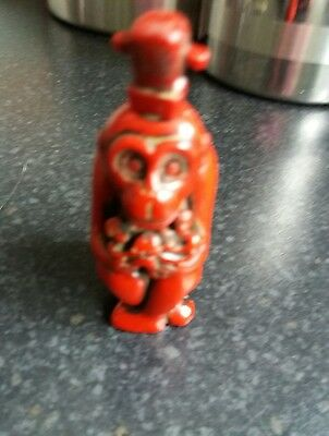 Collectable Snuff Bottle Red Monkey