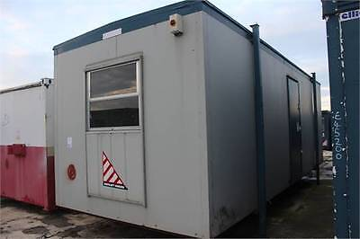 Portable Steel Cabin Site Office Building. Good condition 24ft x 9ft