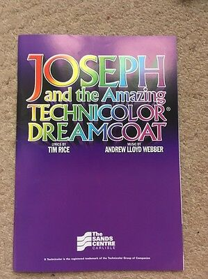 Joseph And The Amazing Technicolour Dreamcoat Programme UK Tour 2008