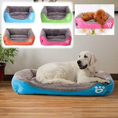 Large Pet Bed Cushion Mat Pad Dog Cat Cage Soft House Kennel Crate Warm Cozy