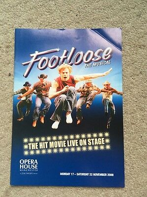 Footloose The Musical Programme UK Tour 2008 Theatre