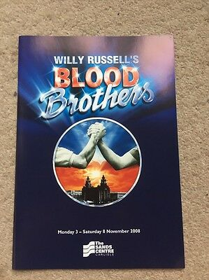 Blood Brothers Musical Theatre Programme UK Tour 2008
