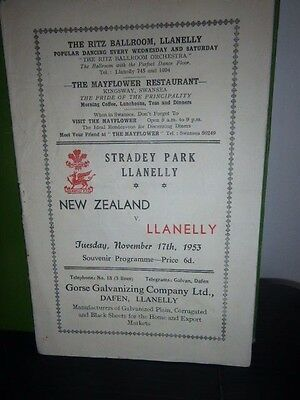 A collection of Rugby Programmes and Books for Llanelli v New Zealand All Blacks