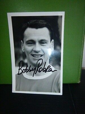 Original Hand Signed Photo Card 6 x 4  Bobby Robson