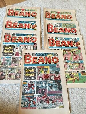 The BEANO COMICS From 1985. Uk Comic Retro VINTAGE
