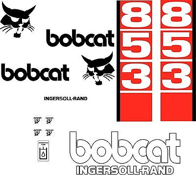 853 D Replacement decals decal kit / sticker set skid loader steer fits bobcat