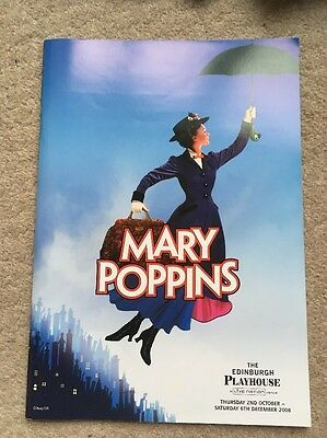 Mary Poppins UK Tour Musical Theatre Programme 2008