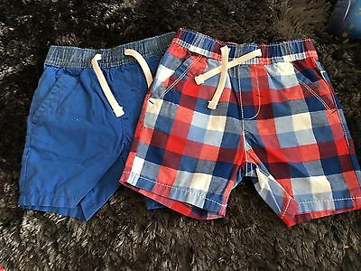 Boys Next Shorts X2 1.5 - 2 Years