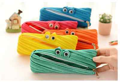 Cute One single Zipper pencil case bag Children back to School stationery canvas