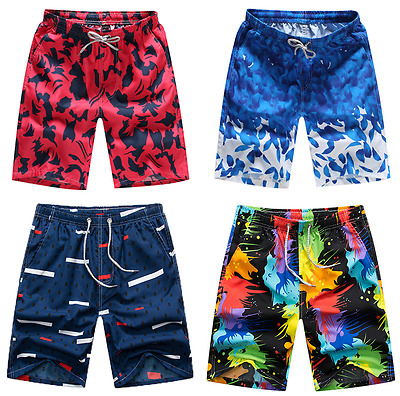Nwt Casual  Men Quick-Dry Beach Pants Boardshorts Surf Shorts Board Size M - 3XL