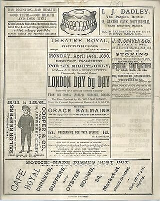 "Theatre Royal, Nottingham ""London day by day"" 1890"