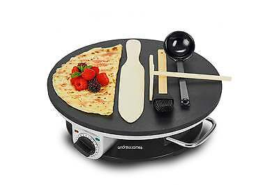 Andrew James Electric Crepe / Pancake Maker Machine 1200W + FREE Accessories