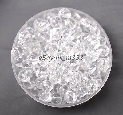 30Pcs Clear Crystal Natural Gemstone Round Spacer Loose Beads 6MM #34