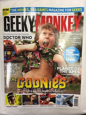 Geeky Monkey Magazine Issue 22 July 2017 The Goonies Dr Who Blade Runner Apes