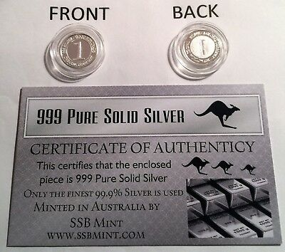 999 Pure Silver 1 Gram Trade Unit Coin (Awesome Investment)