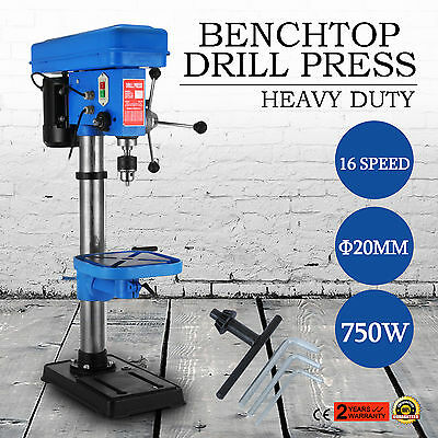 750W Rotary Pillar Drill Bench Top Table Press Drilling Machine 16 Speed