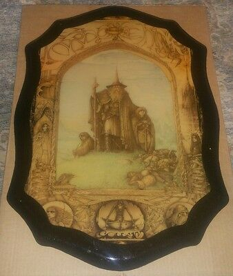 """Jimmy Cauty Laminated Lord of The Rings Wall Plaque Made in Canada 22"""" x 15"""""""