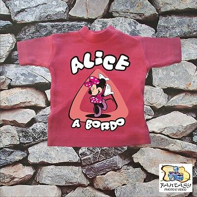 "Mini T-Shirt  Bimbo A Bordo "" Minnie' ""."