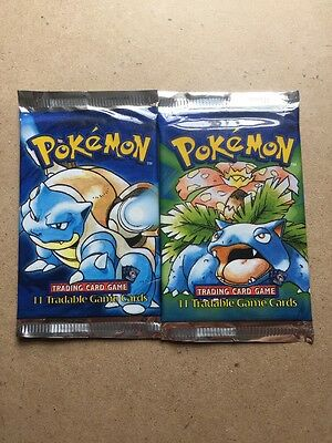 Pokémon Base Set Shadowless Booster Packs X2
